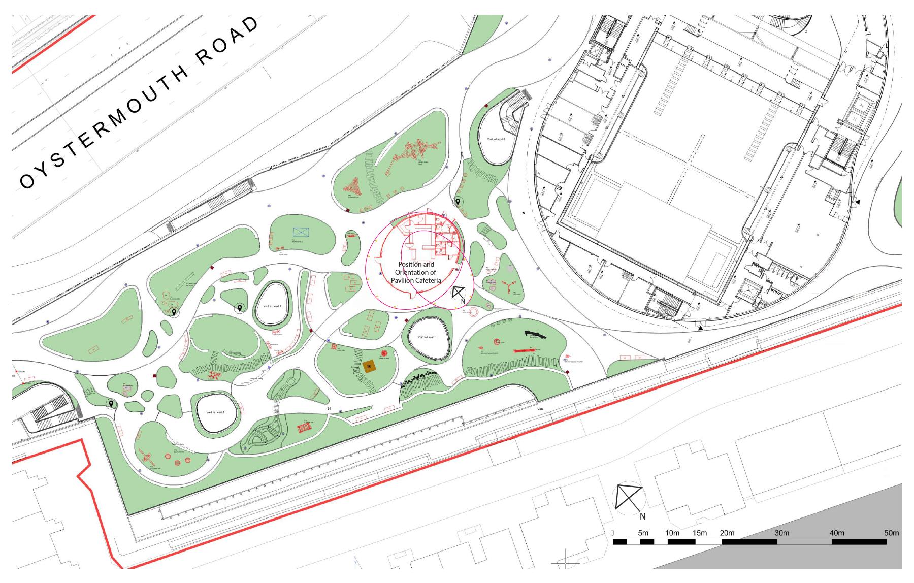 Pavilion landscape plan