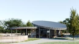 CGI of The Pavilion cafe Swansea
