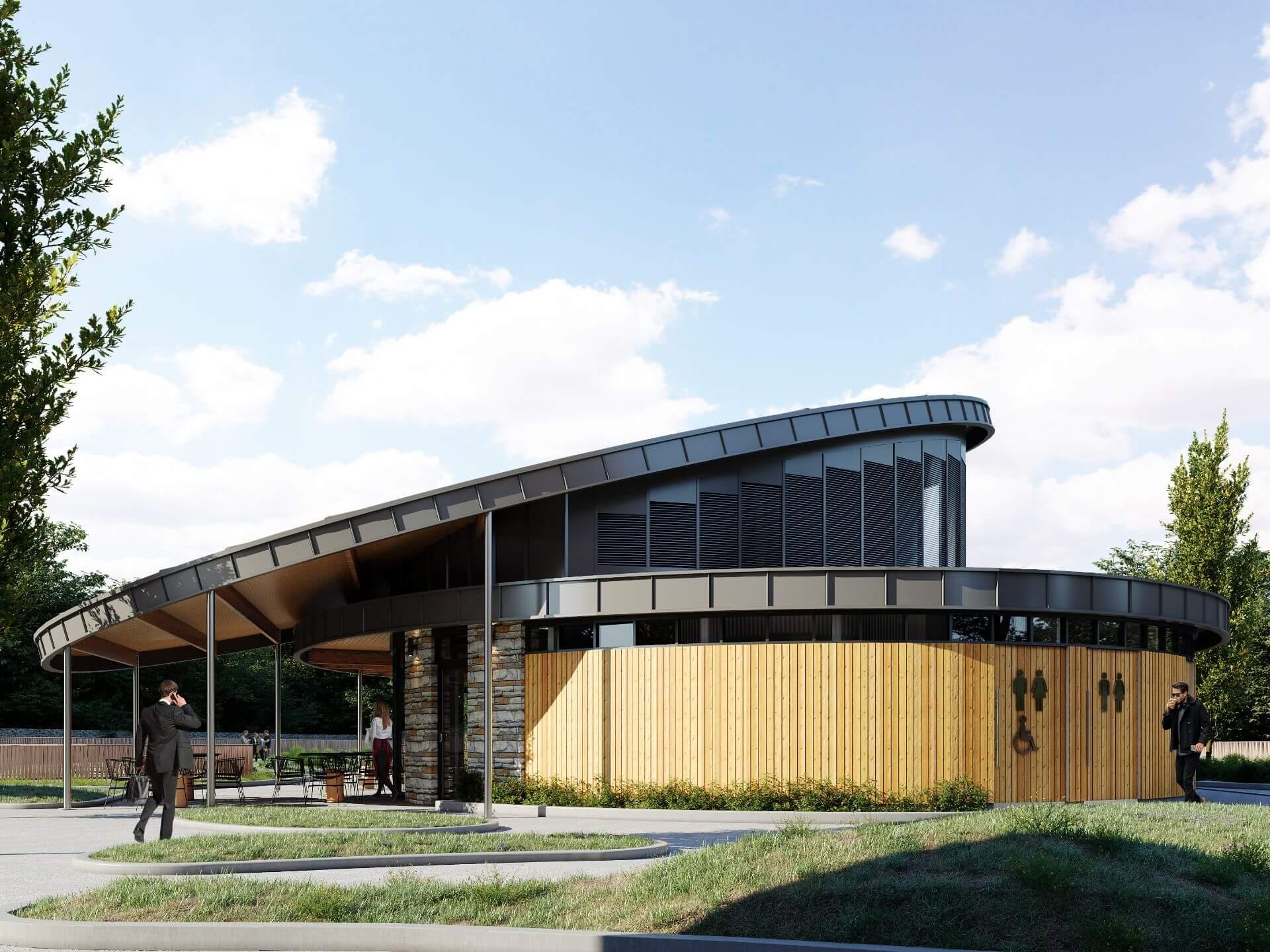 Exterior CGI of the Pavilion