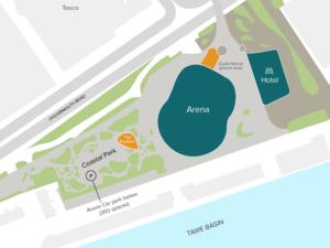 Pavilion and Cycle Hub units at Cobr Bay