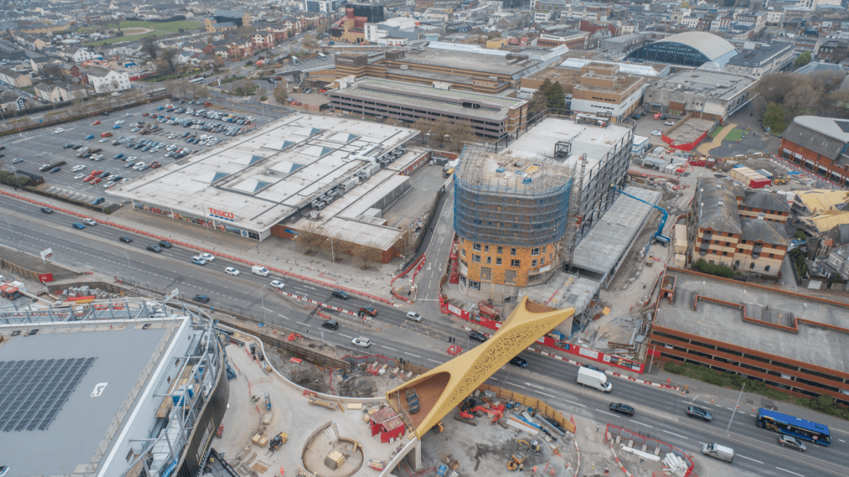 Drone footage of Copr Bay Construction, May 2021